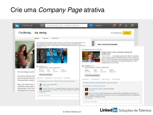 Construa a sua Career Page br.talent.linkedin.com