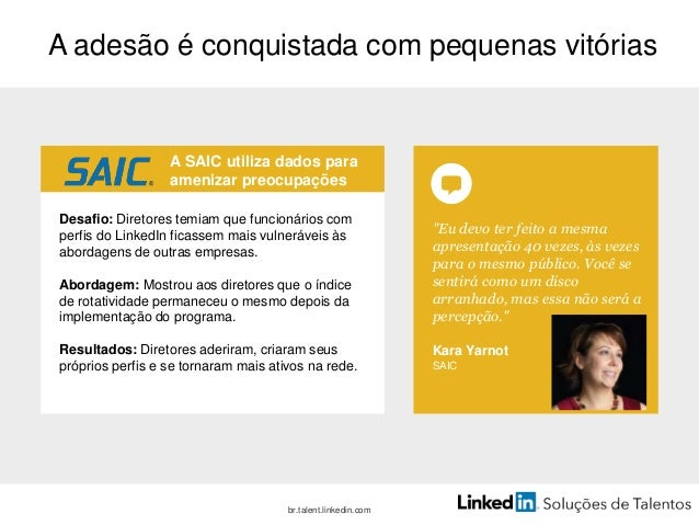 Etapa 2: escute e aprenda Checklist de materiais • Candidatos • Funcionários • Entrevistas de desligamento. • Feedback de ...