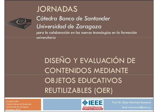 JORNADAS                             Cátedra Banco de Santander                             Universidad de Zaragoza       ...