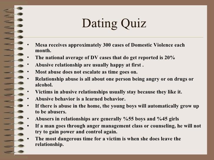 Am i dating an abuser quiz