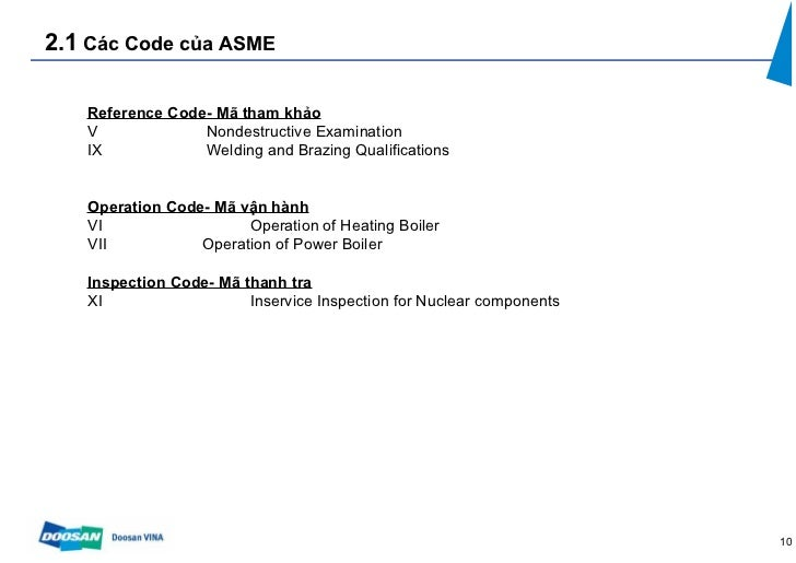 Mes Camp 2012 Phuongdoosan General Introduction About Asme Code