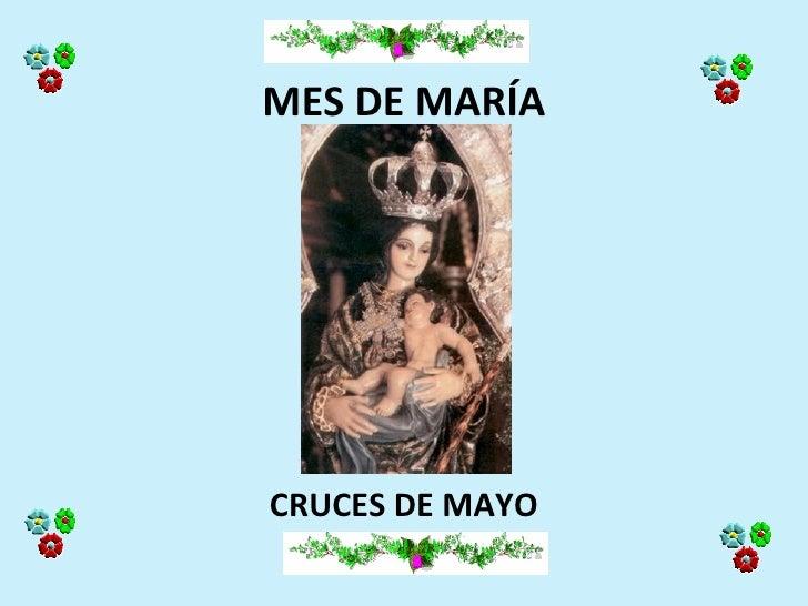 MES DE MARÍACRUCES DE MAYO