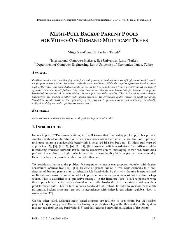 International Journal of Computer Networks & Communications (IJCNC) Vol.6, No.2, March 2014 DOI : 10.5121/ijcnc.2014.6203 ...