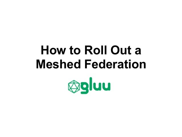 How to Roll Out aMeshed Federation