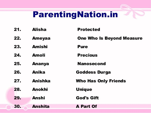 Mesh Rashi Baby Girl Names With Meanings