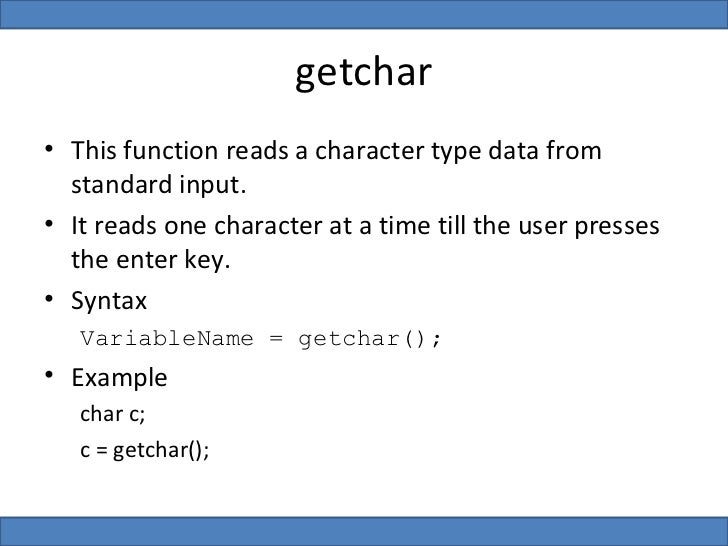 C Program Using Getchar And Putchar Function Muviengineering