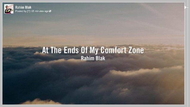 At The Ends Of My Comfort Zone Rahim Blak Męskie Gadanie