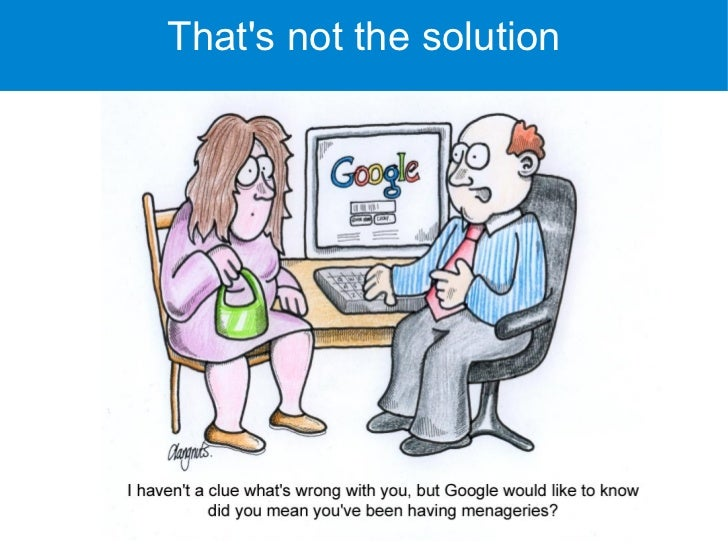 That's not the solution