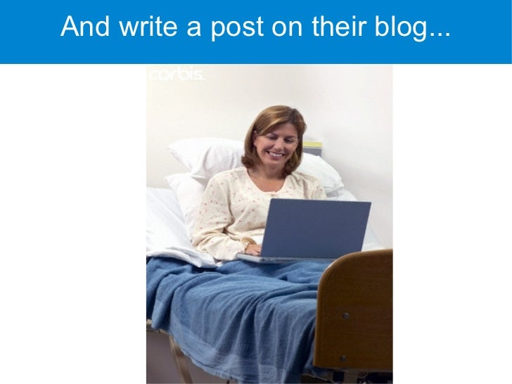And write a post on their blog...