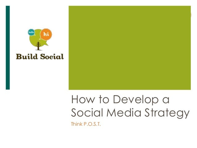 How to Develop aSocial Media StrategyThink P.O.S.T.
