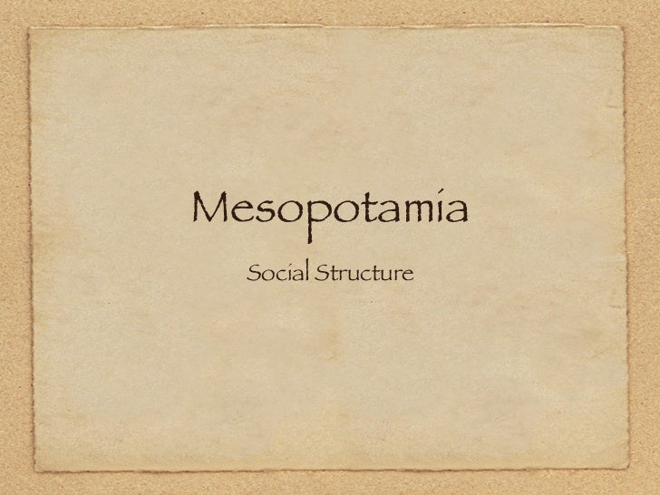 Mesopotamian social structure