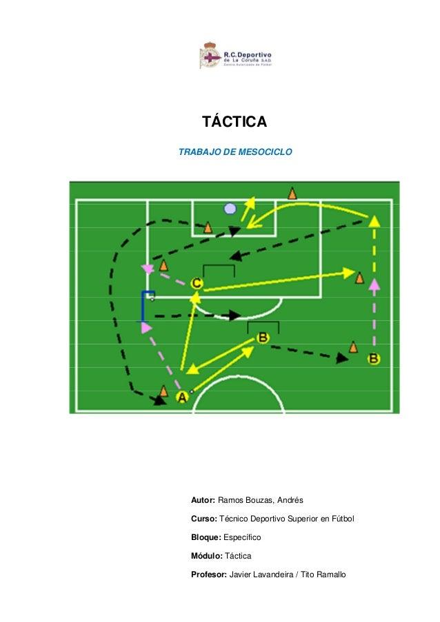 TÁCTICATRABAJO DE MESOCICLOAutor: Ramos Bouzas, AndrésCurso: Técnico Deportivo Superior en FútbolBloque: EspecíficoMódulo:...