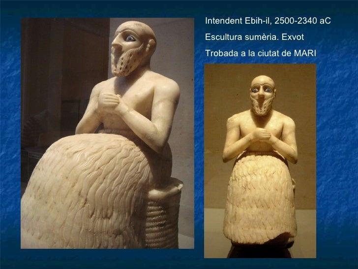 Intendent Ebih-il, 2500-2340 aC Escultura sumèria. Exvot Trobada a la ciutat de MARI