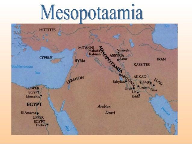 MESOPOTAAMIA •Voolab läbi 2 jõge: Tigris ja Eufrat. •Mesopotaamiaks – jõgedevaheline maa. •Suvel seal vihma ei saja. •Niis...