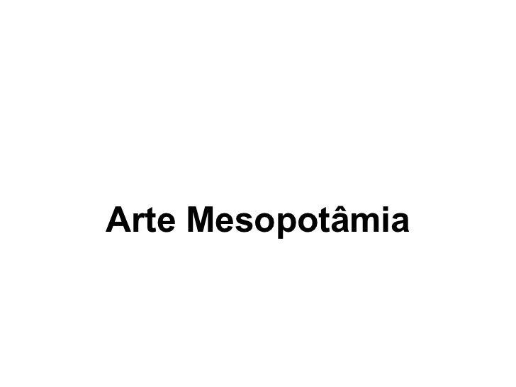 Arte Mesopotâmia