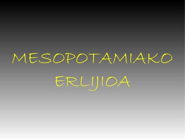 MESOPOTAMIAKO   ERLIJIOA