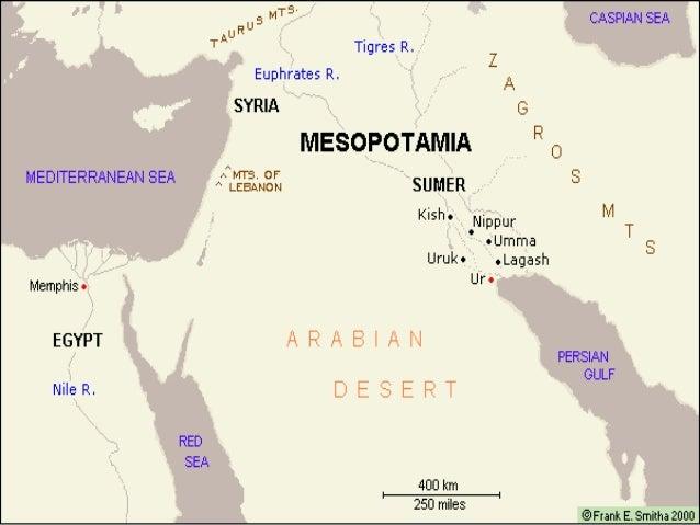 Mesopotamia - Map of egypt and mesopotamia