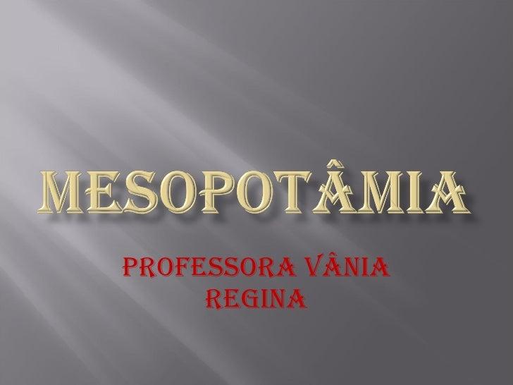 Professora Vânia Regina