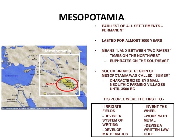 History of Mesopotamia civiization Part 1
