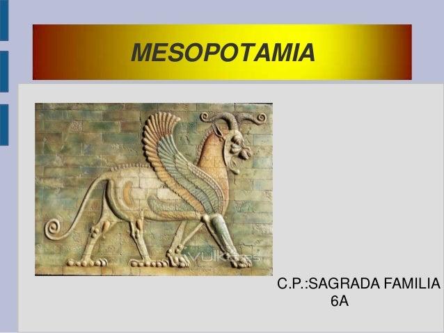 MESOPOTAMIA  C.P.:SAGRADA FAMILIA 6A