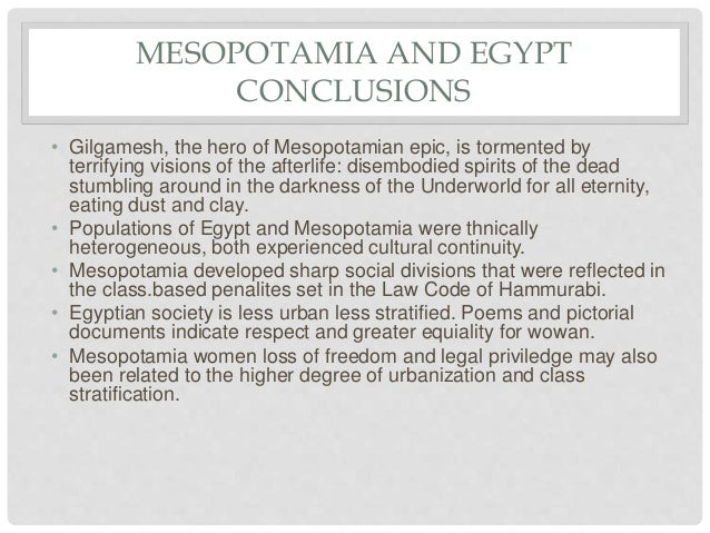 Egypt vs mesopotamia essay