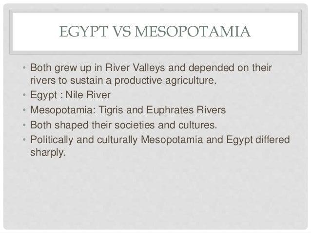 mesopotamia vs egypt timeline