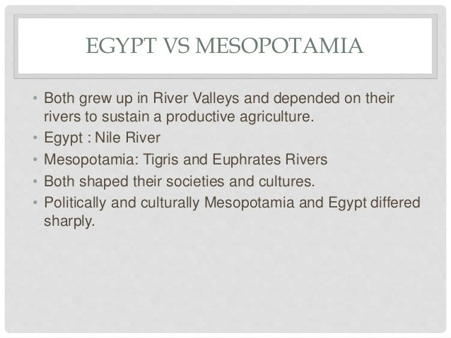 Mesopotamia and Egypt Essay Sample