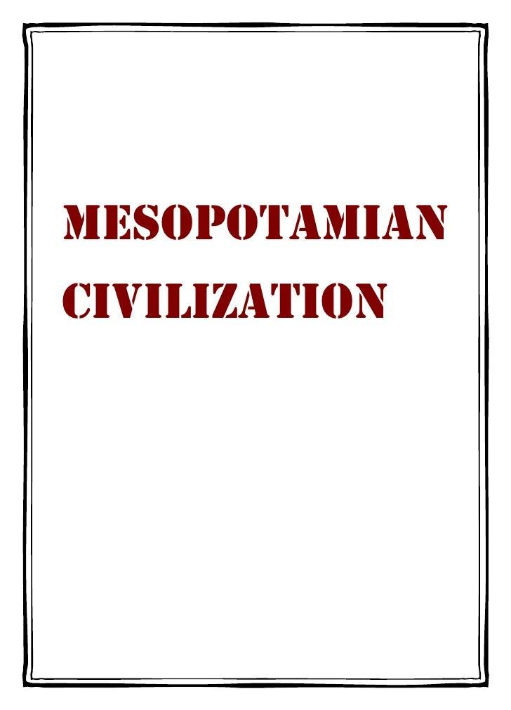 MESOPOTAMIANCIVILIZATION
