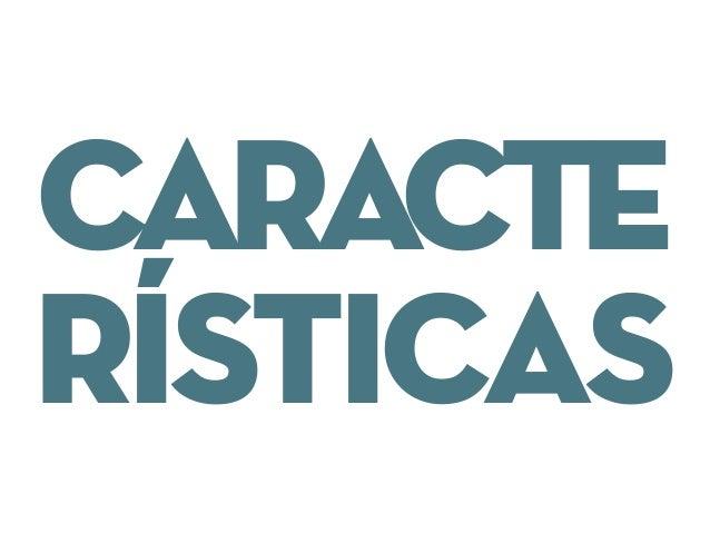 CARACTE RÍSTICAS