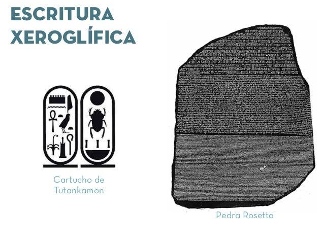 ESCRITURA XEROGLÍFICA Pedra Rosetta Cartucho de Tutankamon