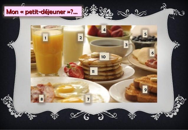 Mon « petit-déjeuner »?…                                        4                                                 5       ...
