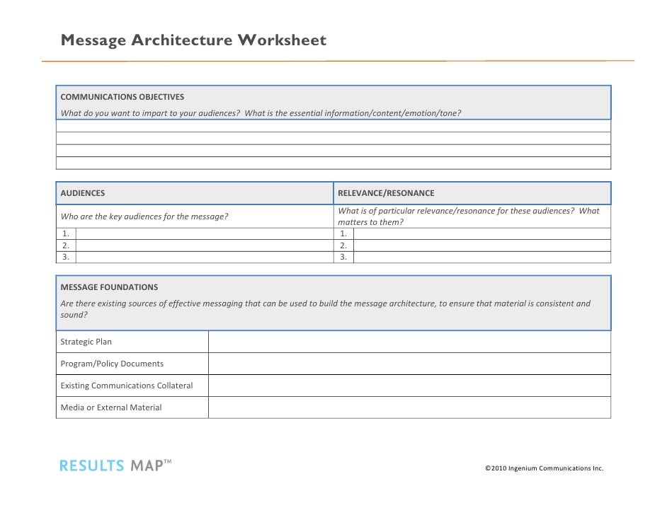 message architecture worksheet. Black Bedroom Furniture Sets. Home Design Ideas