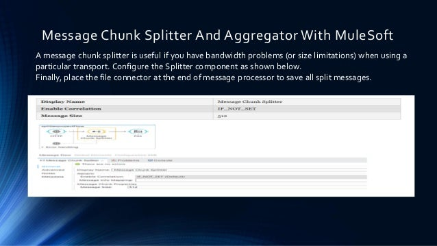 Message Chunk Splitter And Aggregator With MuleSoft