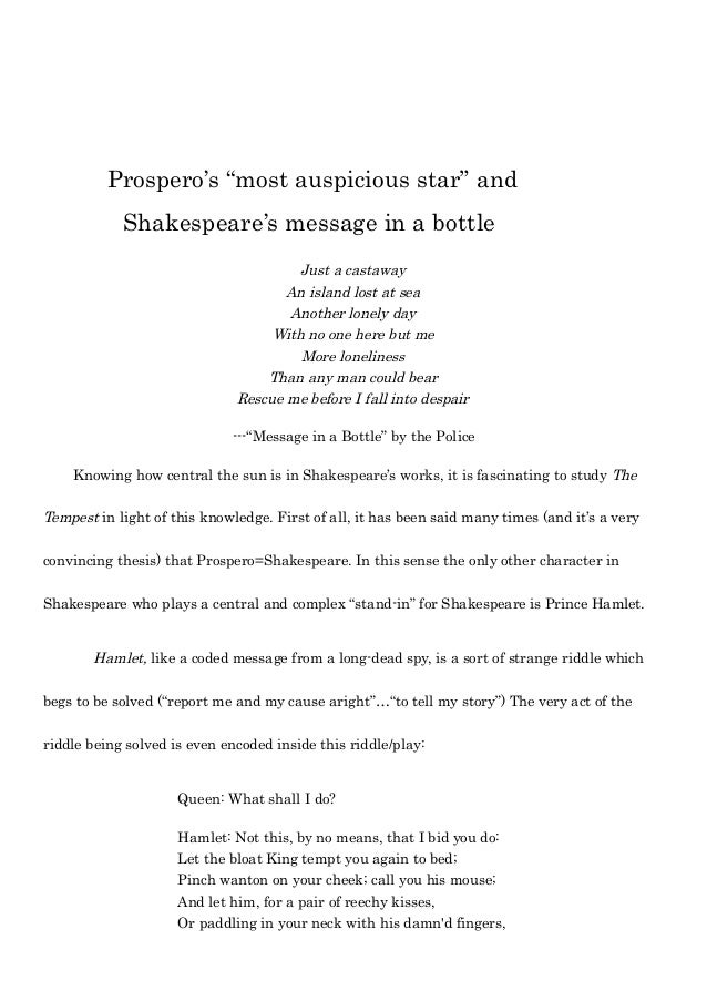 prospero shakespeare
