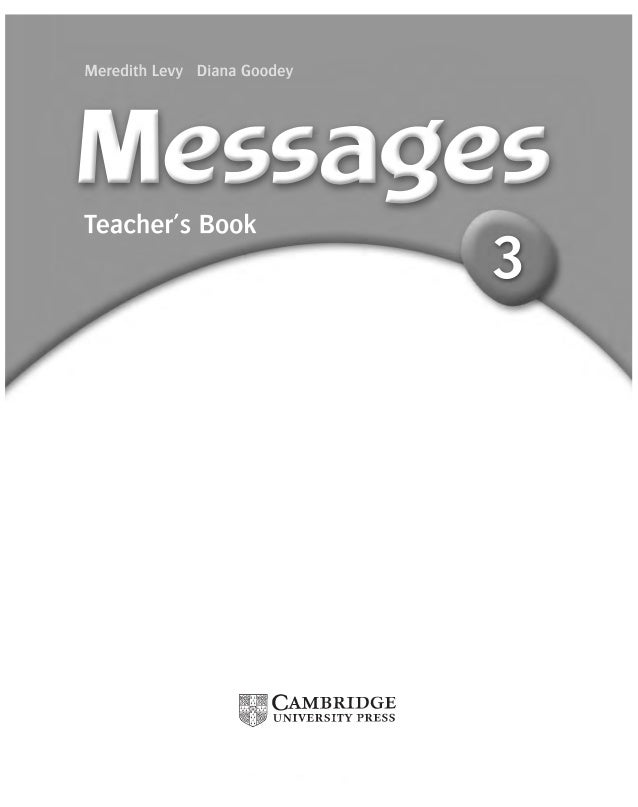 Messages 3 teachers book fandeluxe Gallery