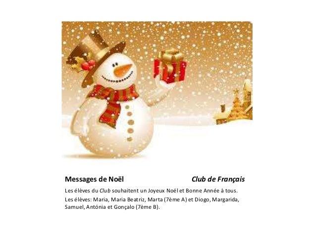 Messages de no�l club fran�ais