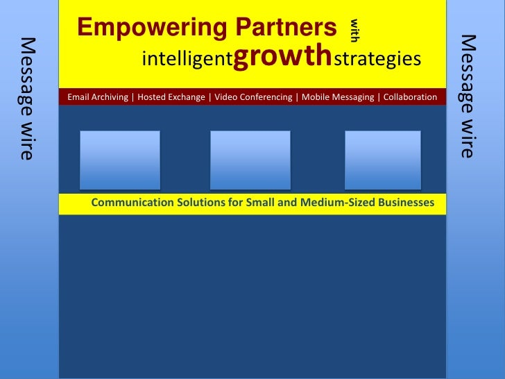 Empowering Partners <br />with<br />intelligentgrowthstrategies<br />Email Archiving   Hosted Exchange   Video Conferencin...