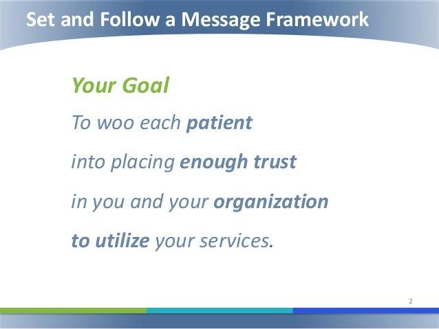 How to Create a Winning Message Framework Slide 2