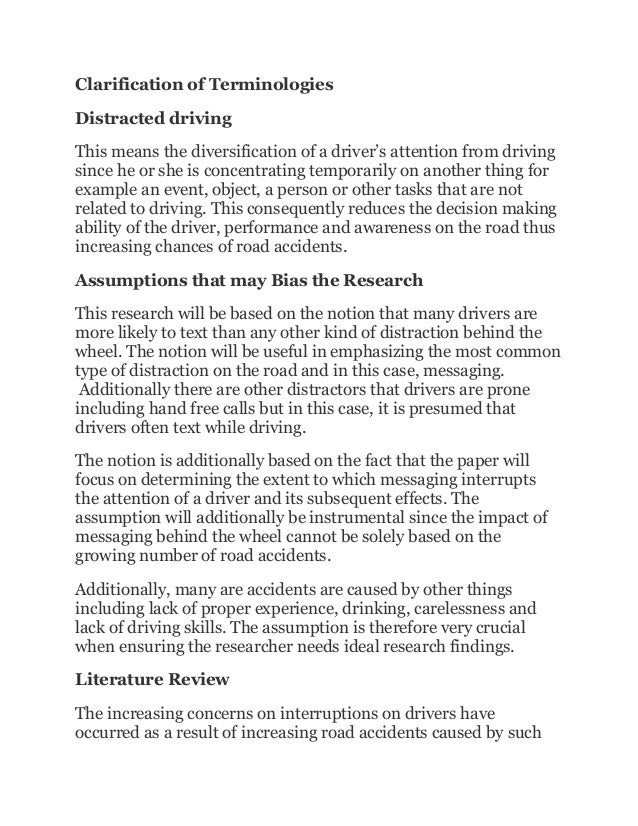 driving distractions essay In this regard, the current essay hereby aims to proffer pertinent issues relative to distracted driving including its accurate definition, the significant a.