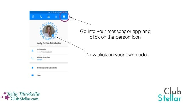 How to download and scan a Facebook Messenger code
