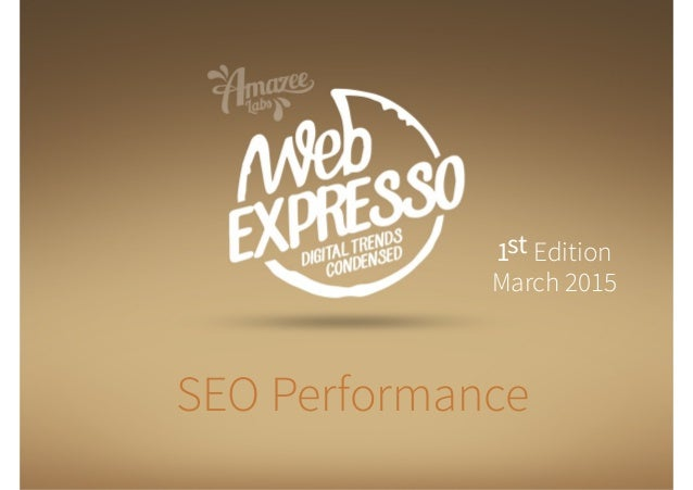SEO Performance 1st Edition March 2015