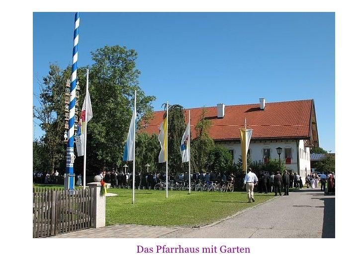 Das Pfarrhaus mit Garten
