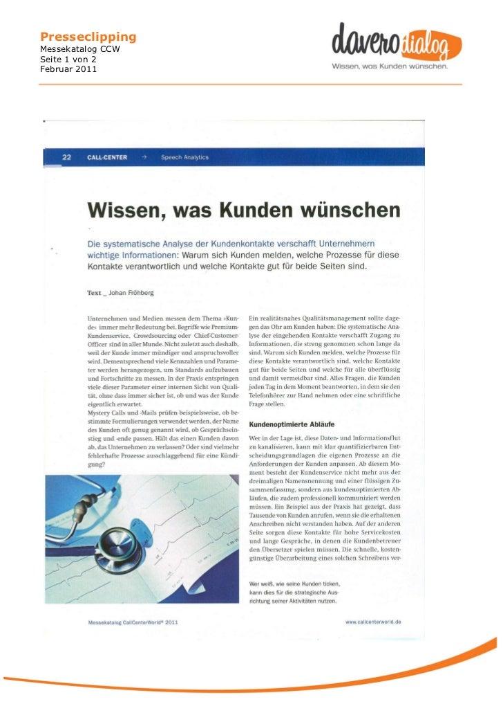 PresseclippingMessekatalog CCWSeite 1 von 2Februar 2011