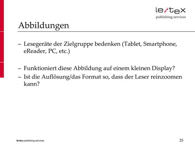 Abbildungen – Lesegeräte der Zielgruppe bedenken (Tablet, Smartphone,   eReader, PC, etc.) – Funktioniert diese Abbildung ...