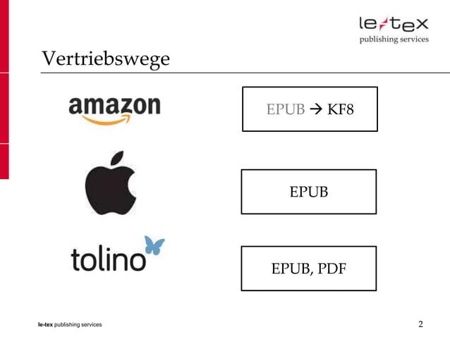 Vertriebswege                             EPUB  KF8                               EPUB                             EPUB, ...