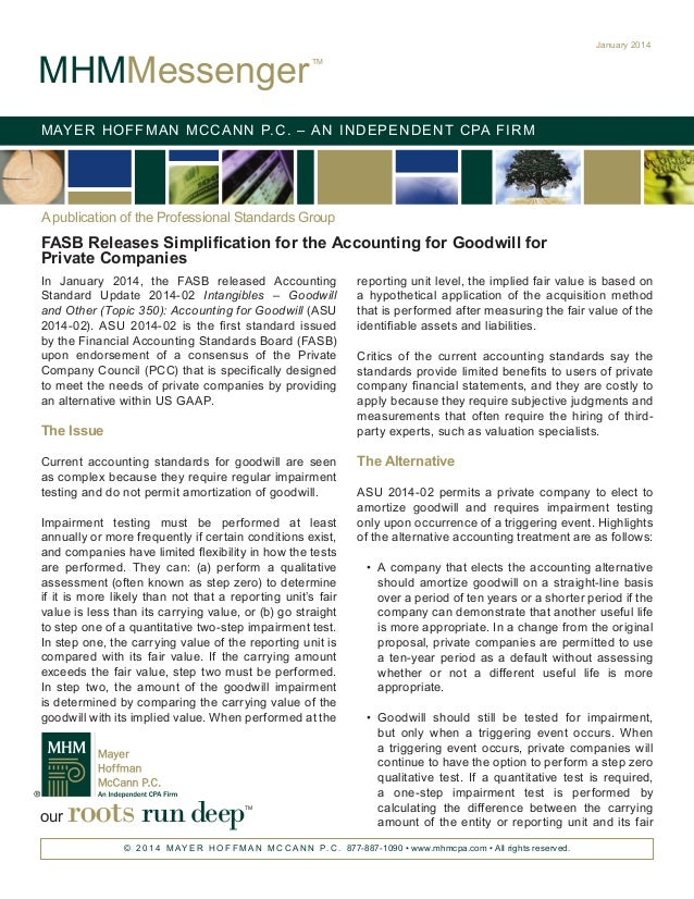 FASB Releases Simplification for the Accounting for Goodwill