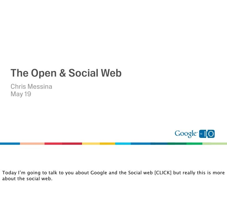 The Open and Social Web Slide 3