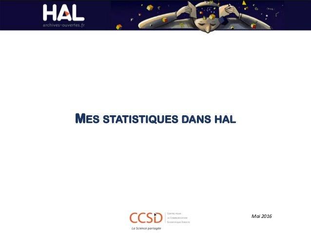 MES STATISTIQUES DANS HAL Mai 2016