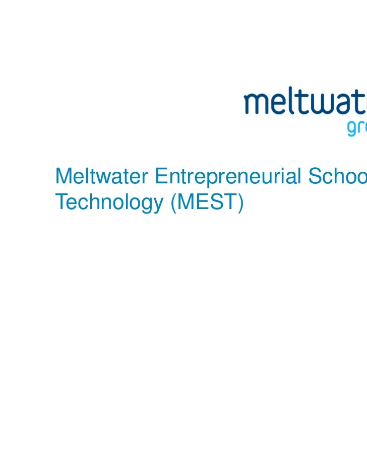 Meltwater Entrepreneurial School ofTechnology (MEST)