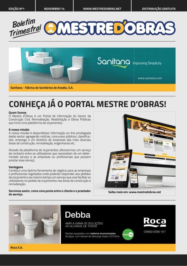 EDIÇÃO N°1 NOVEMBROWA WWW. MESTREDOBRI-S. NET DISTRIBUIÇÃO GRATUITA      l provingSimp| icity  www. sanitana. com         ...
